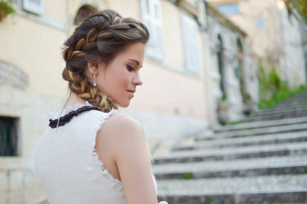 Woman sporting beautiful braids