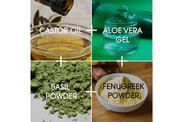 Hair loss cream with castor oil