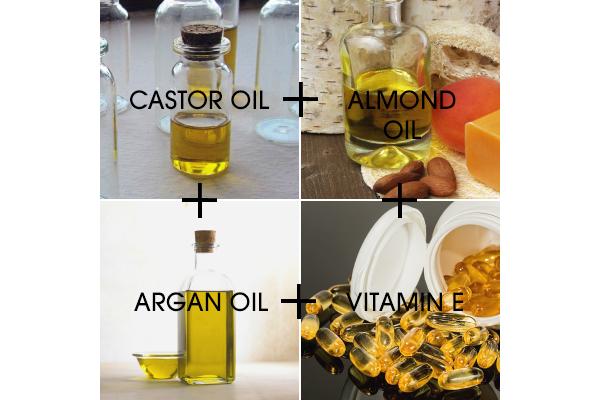 Eyelash growth serum with castor oil