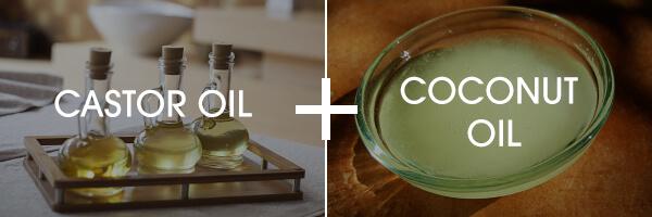 Castor oil and coconut oil blend