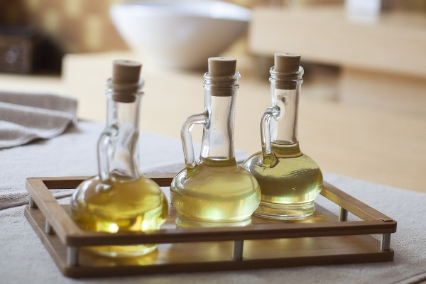 Castor Oil in Decanters